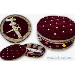 Handmade Sewing Box With Original Shaneel