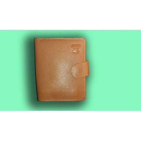 Imported Brown Leather Woode Wallet For Men
