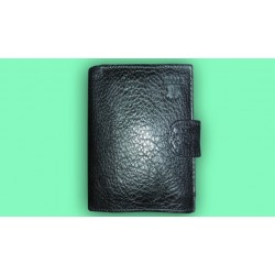 Imported Black Leather Woode Wallet For Men
