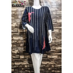 Bubbles Stitched Embroidered Kurti