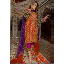 Haris Shakeel Embroidered Suit